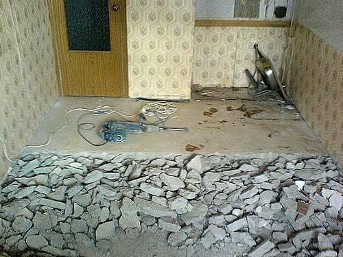 Стоимость демонтажа стяжки в Минске