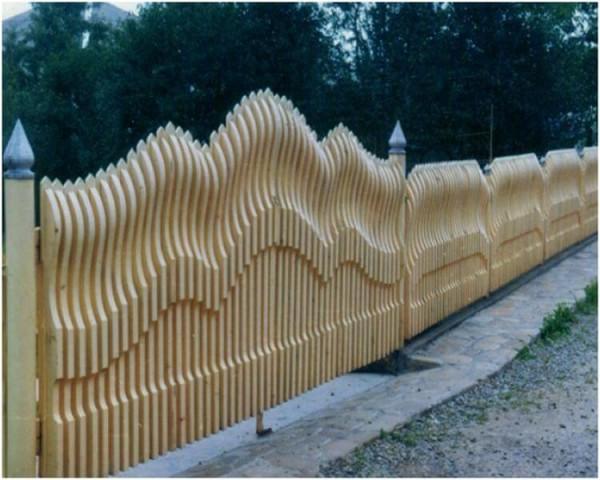 Деревянный забор цена