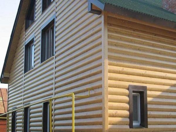Отделка фасада блок-хаусом, цена монтажа