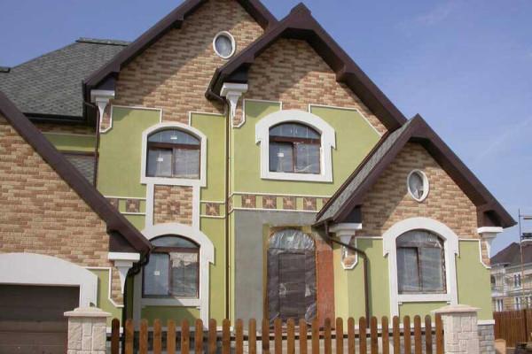 Декоративная покраска фасада дома, цена в Минске