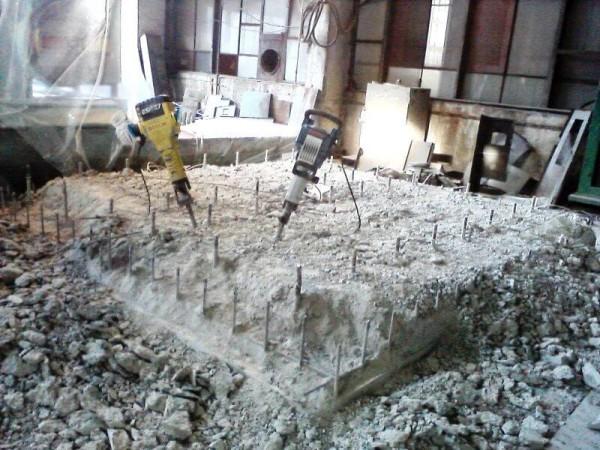 Демонтаж фундаментов цена работ
